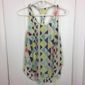 Under/Wilfred 100% Silk Triangle Print Camisole